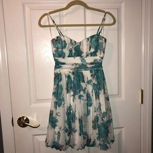 Teal flower dress